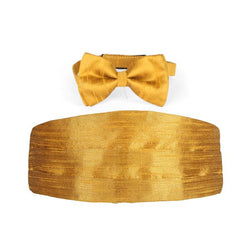 GOLD DAMASK CUMMERBUND AND BOW-TIE - ruffntumblekids