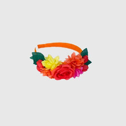 Orange Floral Alice Band