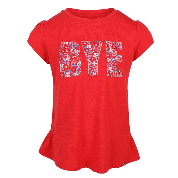 GIRLS CARMINE RED EMBROIDERED TOP - ruffntumblekids