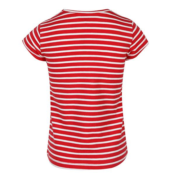GIRLS CARMINE STRIPED TOP