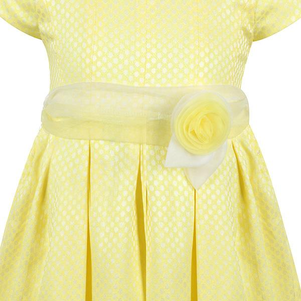 GIRLS CITRUS JACQUARD DOTS DRESS - ruffntumblekids