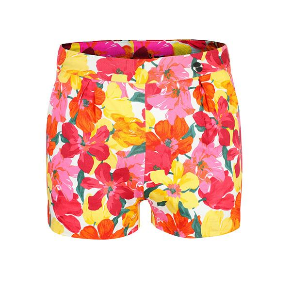GIRLS CORAL FLOWER PRINTED SHORTS