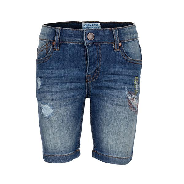 blue denim shorts-ruffntumble