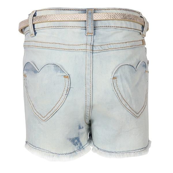GIRLS DENIM EMBROIDERED SHORTS