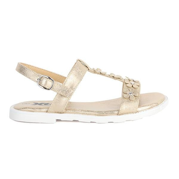 GIRLS FANCY GOLD BASIC SANDALS