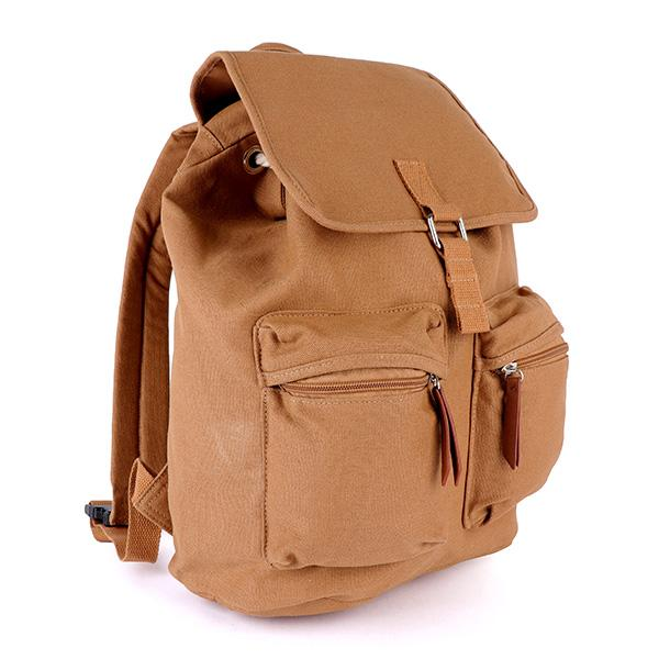 Girls Brown Double Side Cargo Backpack