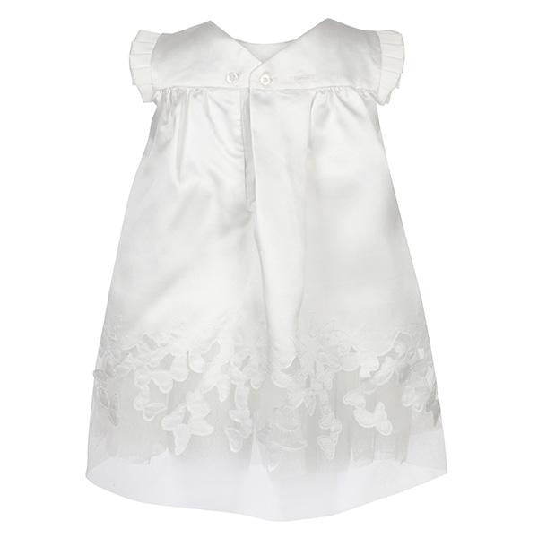 Girls Off White Butterfly Embroidered Dress
