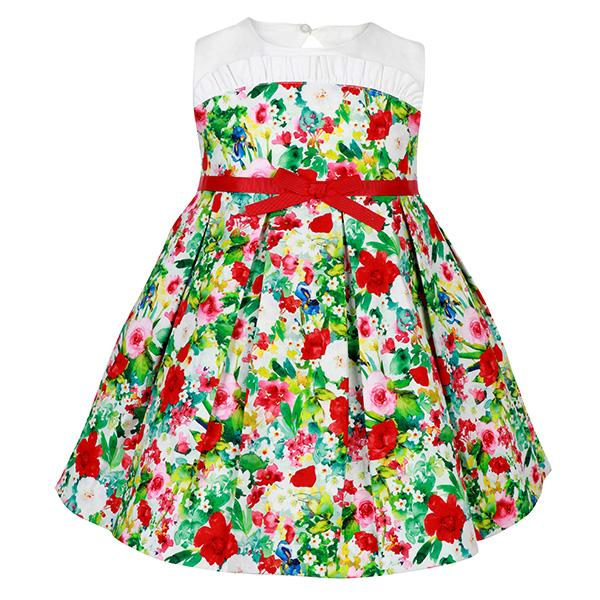 Girls multi-color fit and flare dress_ruffntumblekids