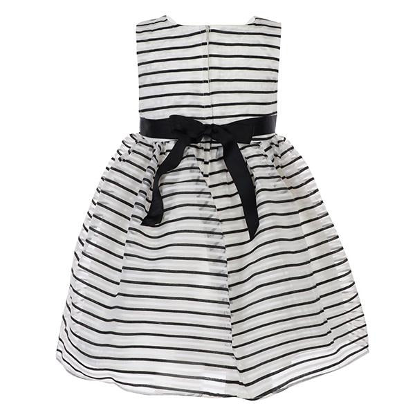 Girls Monochrome Embellished Dress - ruffntumblekids