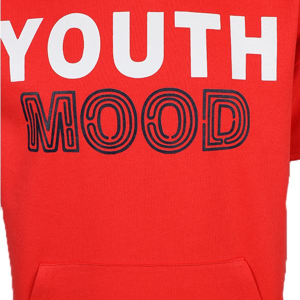 BOYS RED YOUTH MOOD HOODIE TEE - ruffntumblekids