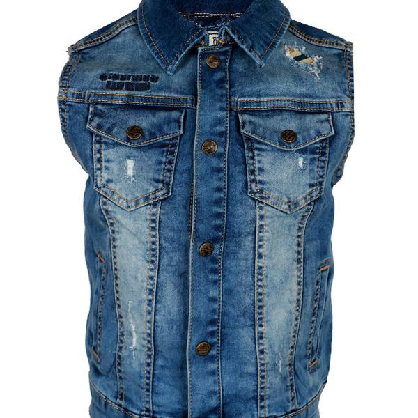 BOYS DENIM BLUE WILD WEST JACKET - ruffntumblekids