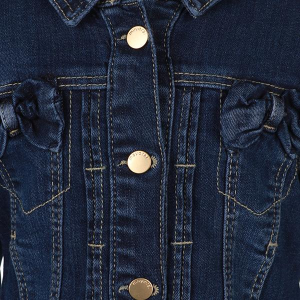 Girls Denim Long Sleeve Jacket - ruffntumblekids
