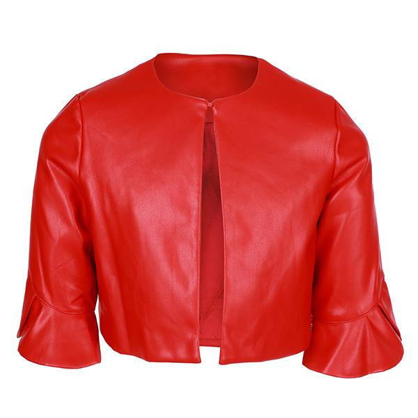 Red Leatherette Jacket