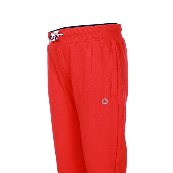 BOYS RED CUFFED FLEECE JOGGERS - ruffntumblekids