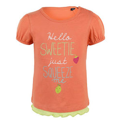 GIRLS FLAMINGO S/S FRUIT TOP