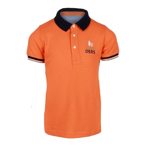 orange short sleeve polo-ruffntumble