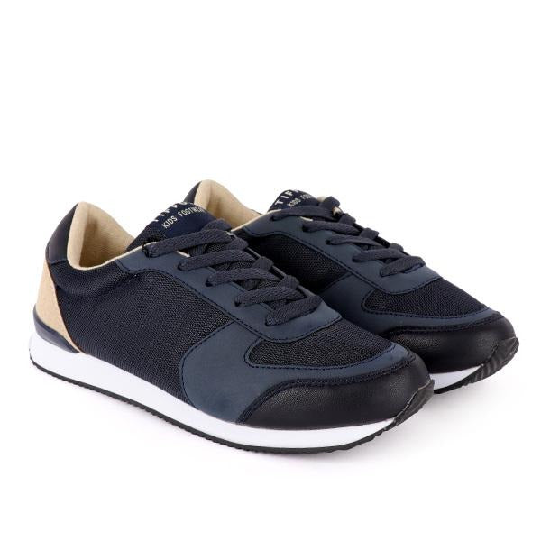 Boys Navy Lace Up Sneakers