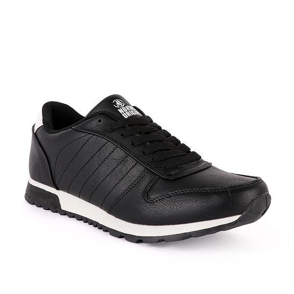 Boys Black Leather Lace-Up Sneakers - ruffntumblekids