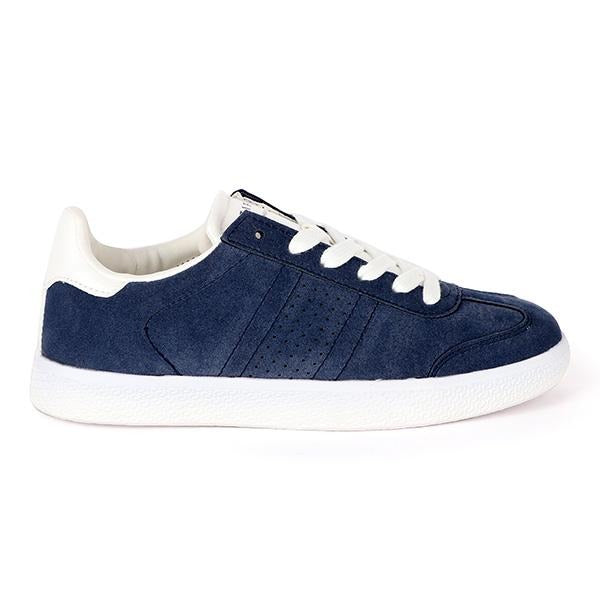 BOYS BLUE LACE-UP PLATFORM SNEAKERS - ruffntumblekids