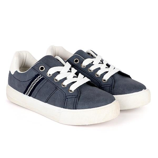 girls navy lace up platform sneakers_ruffntumblekids