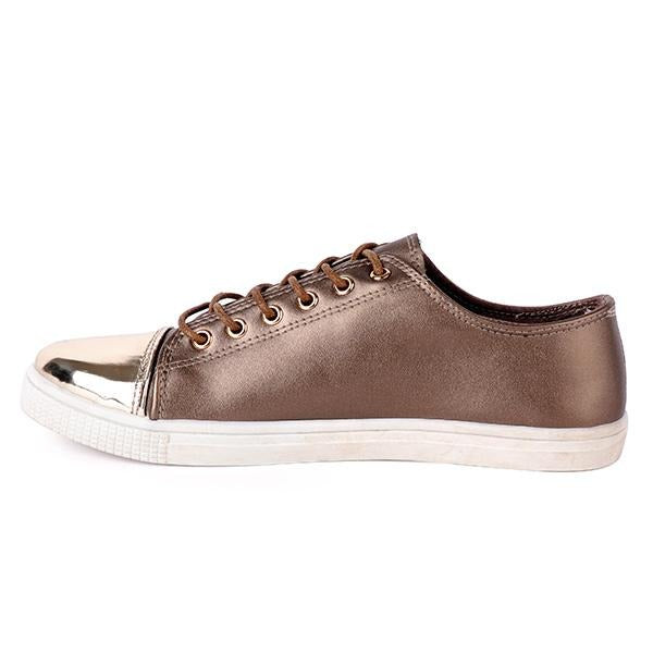 BIG Girls Bronze Lace-Up Casual Sneakers
