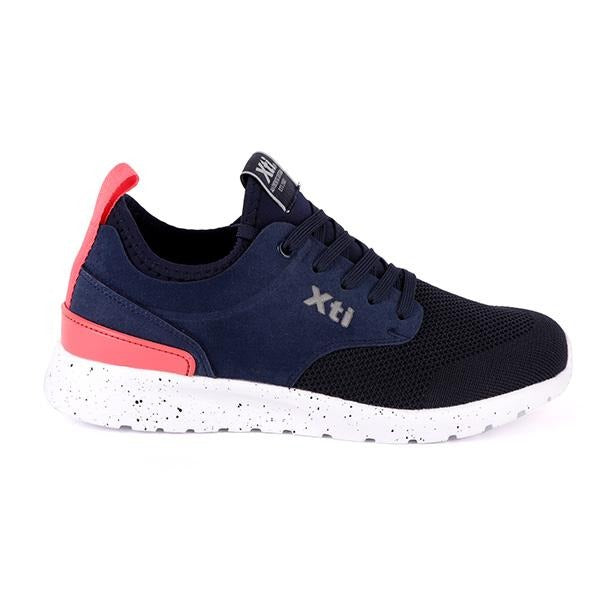 Navy Lace-Up Casual Sneakers