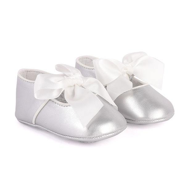 Girls Silver Mary Jane Shoes