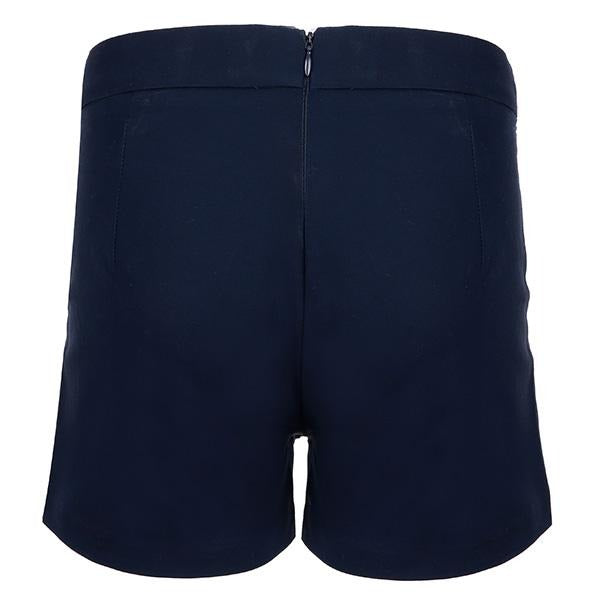 GIRLS NAVY CASUAL SATIN SHORTS