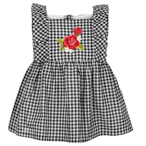 BABY GIRLS CHECK A-LINE DRESS/BLOUSE