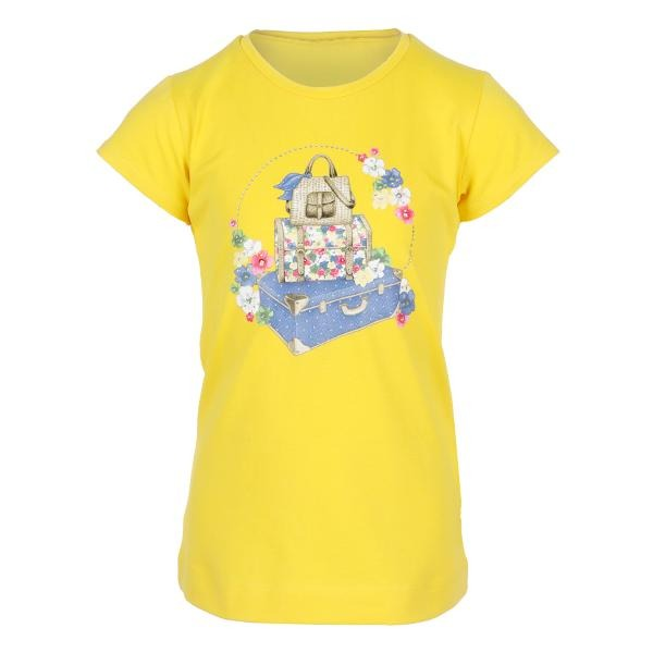 Girls Yellow Floral Graphic Tee