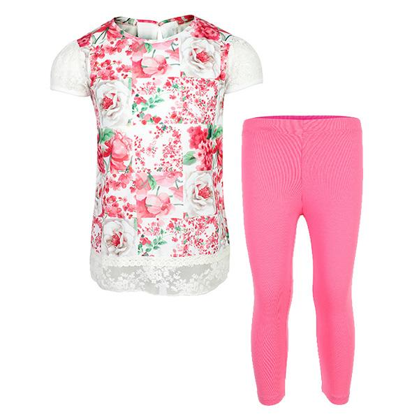 Girls fuchsia leggings set_ruffntumblekids