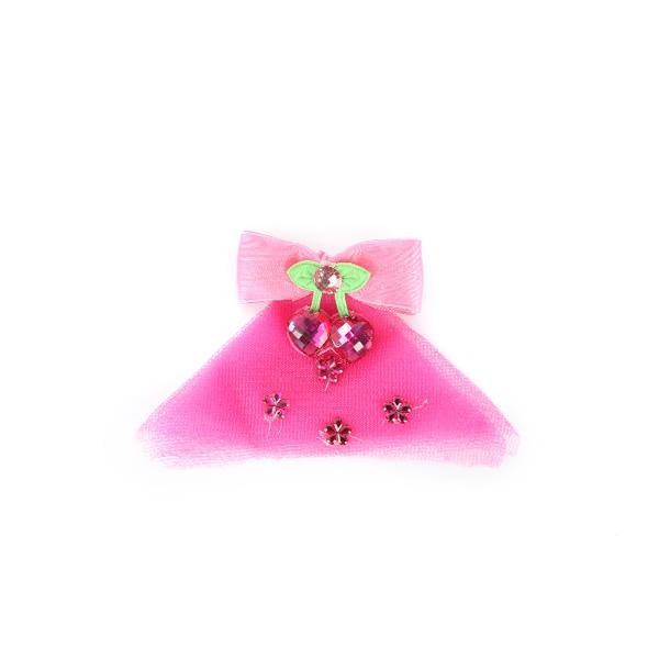 BABY GIRL FUCHSIA DECORATIVE HAIR BOW - ruffntumblekids