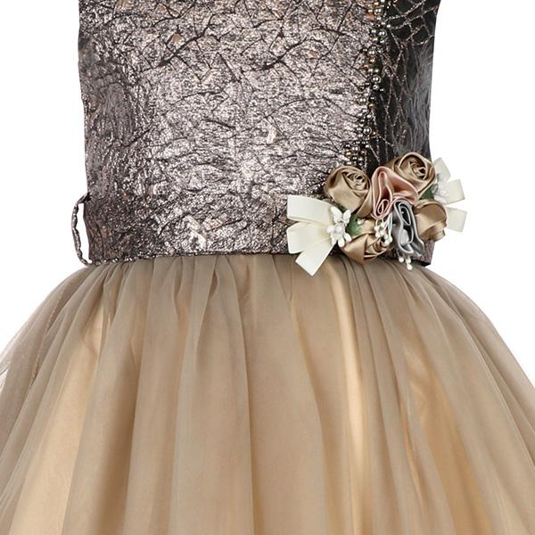 GOLD EMBELLISHED BALL DRESS