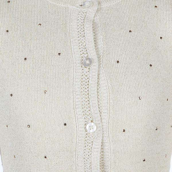 Girls Gold Knit Bolero