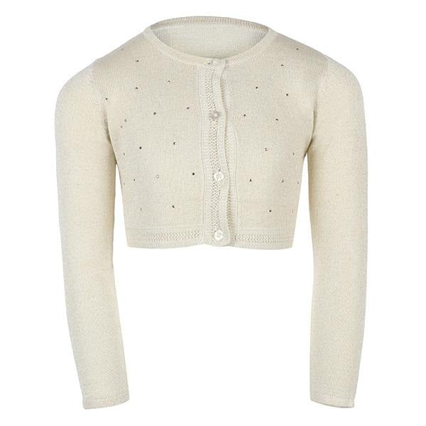 Girls Gold Knit Bolero_ruffntumblekids