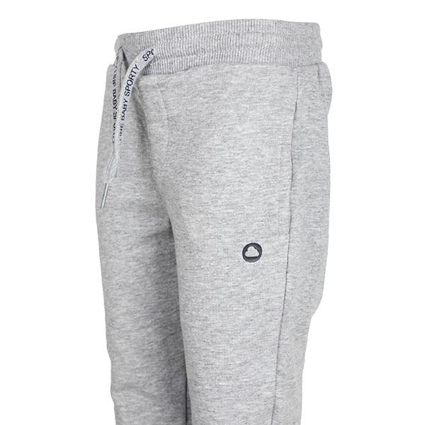 BOYS GREY BASIC FLEECE JOGGERS - ruffntumblekids
