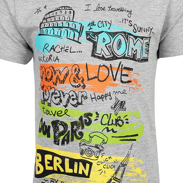 BOYS GREY GRAPHIC T-SHIRT - ruffntumblekids
