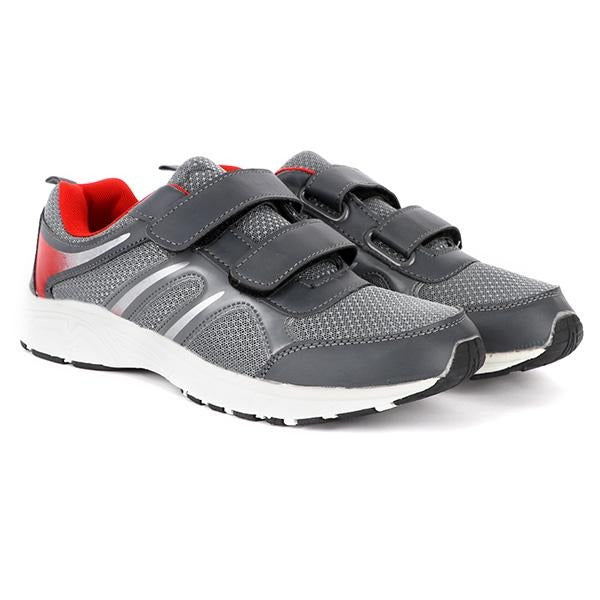 grey Velcro sneakers-ruffntumble