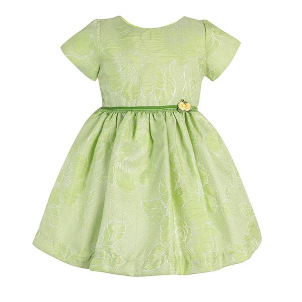 LEMON GREEN  FLORAL  DRESS