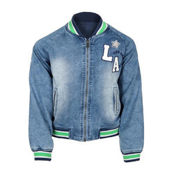 Light Denim Zipper Jacket