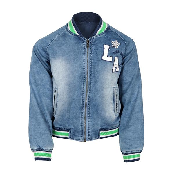 Light Denim Zipper Jacket - ruffntumblekids