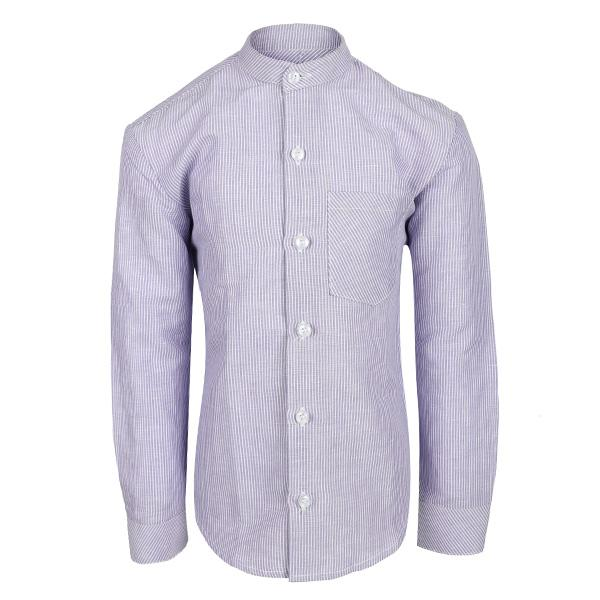 lilac nehru stripe long sleeve shirt-ruffntumble