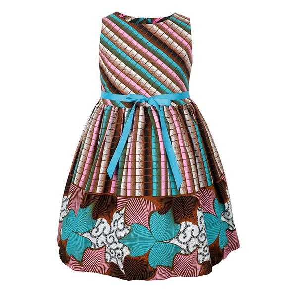 MULTICOLOR ANKARA DRESS