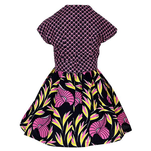 GIRLS MULTI-COLOR ANKARA DRESS WITH JACKET - ruffntumblekids