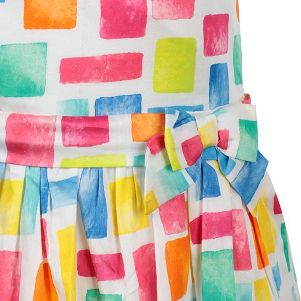 MULTICOLOR SATIN PRINT DRESS