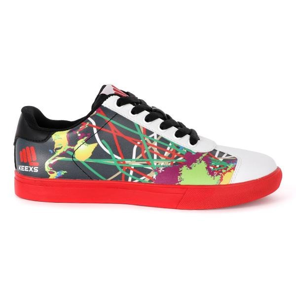 BOYS MULTI COLOR LACE UP SNEAKERS