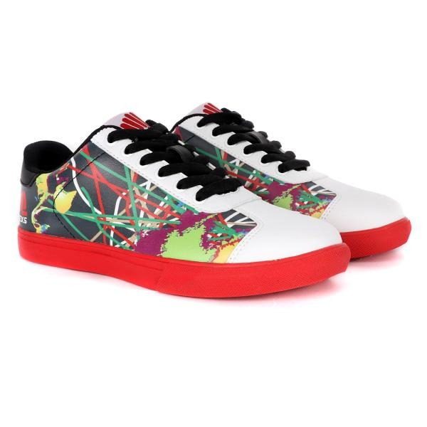 MULTICOLOURED LACE UP SNEAKERS