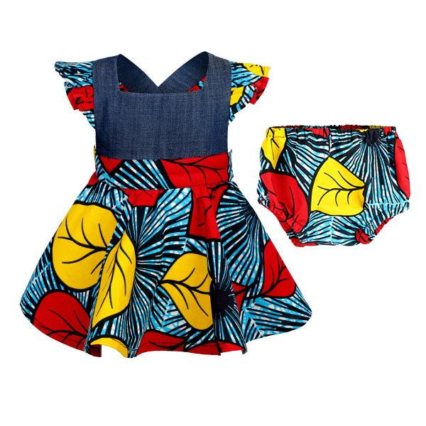 MULTI ANKARA FIT&FLARE DRESS - ruffntumblekids