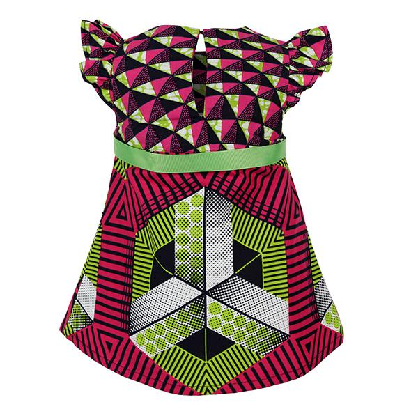 MULTI ANKARA FIT & FLARE DRESS - ruffntumblekids