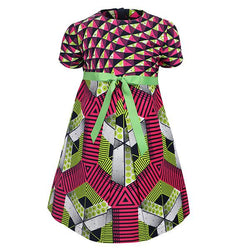 MULTI ANKARA FIT&FLARE DRESS